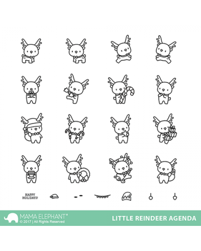 Mama Elephant sello Little Reindeer agenda
