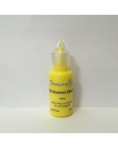 3D Enamel Effect Yellow