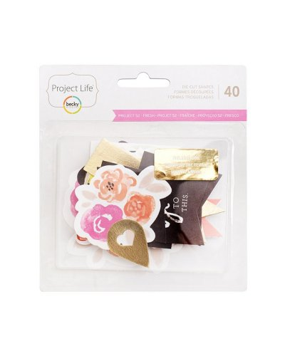 Die cuts Project Life Proyecto 52 fresco