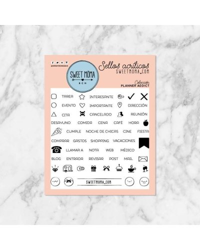 Sweet Moma sello Planner addict (español)