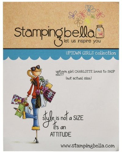 Sello Stampingbella Uptown Girl Charlotte loves to Shop