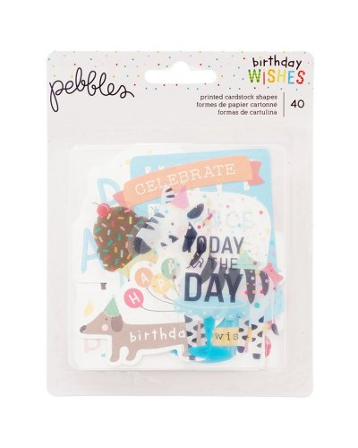 Die cuts Birthday Wishes Pebbles