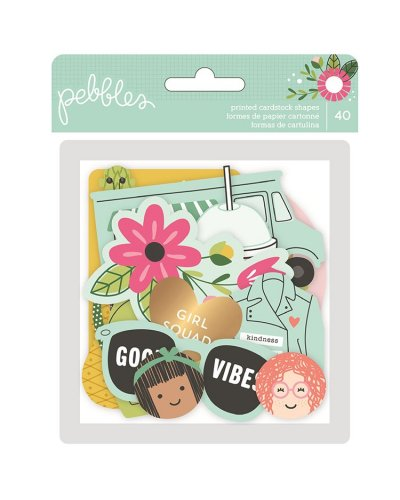 Die cuts Girl Squad Pebbles