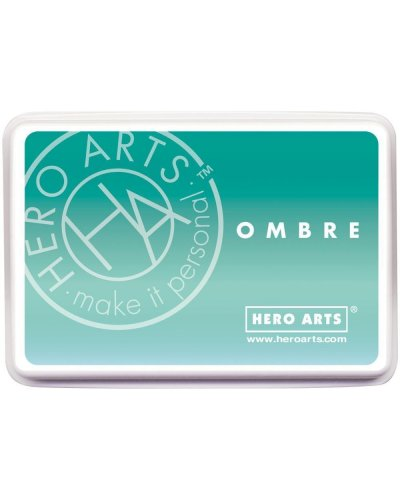 Tinta Hero Arts ombré mint to Green