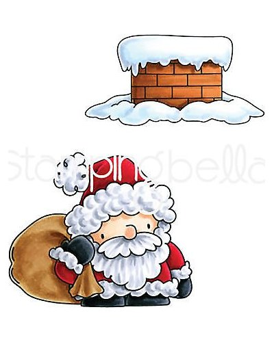 Sello Stampingbella Santa and his Chimney