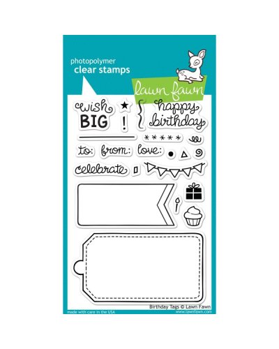 Lawn Fawn sello Birthday Tags