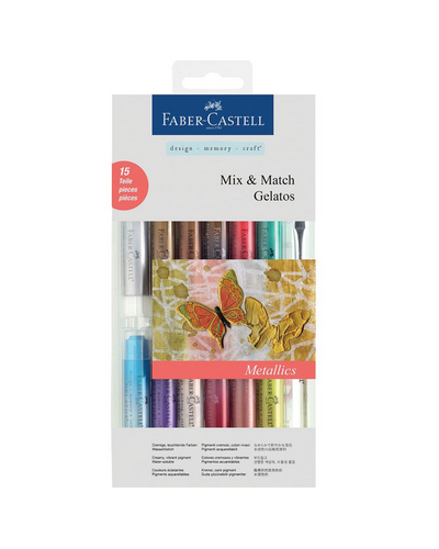 Gelatos Brights, Faber Castell 12 unid + pincel