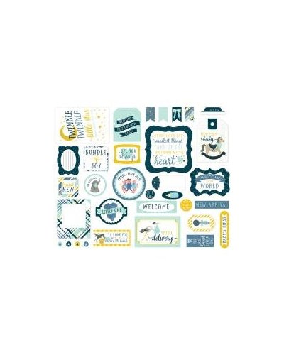 Die cuts Carta Bella Rock-a-bye boy ephemera