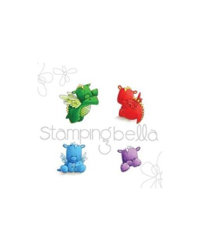 Sello Stampingbella Set of Dragons