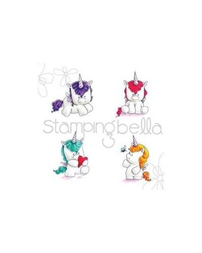 Sello Stampingbella Set of Unicorns