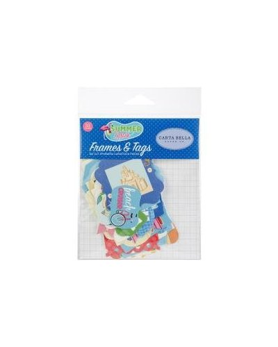 Die cuts Carta Bella Summer Splash Frames&Tags
