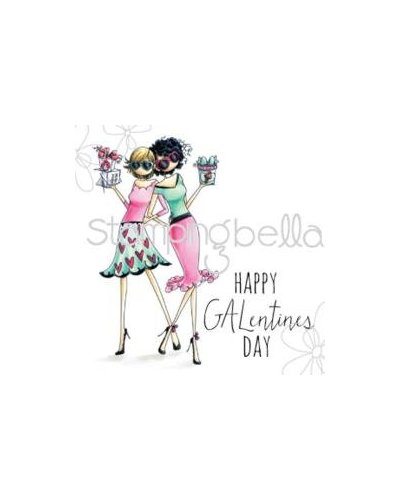 Sello Stampingbella Uptown Girls, Happy Galentines