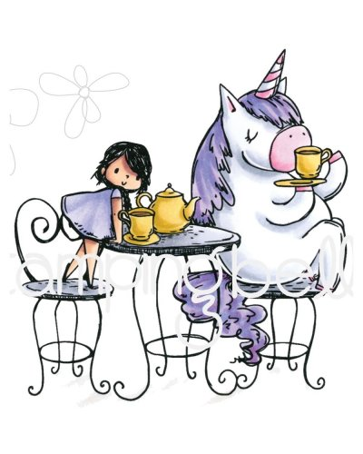 Sello Stampingbella Rosei and Bernie Have a tea Party