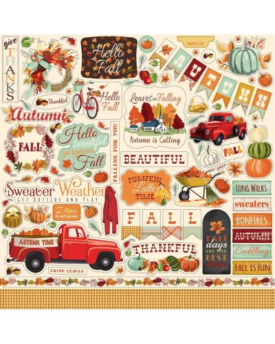 Die cuts Carta Bella Practically Perfect, Ephemera
