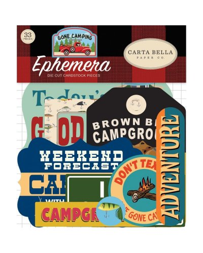 Die cuts Carta Bella Pack Your Bags Ephemera