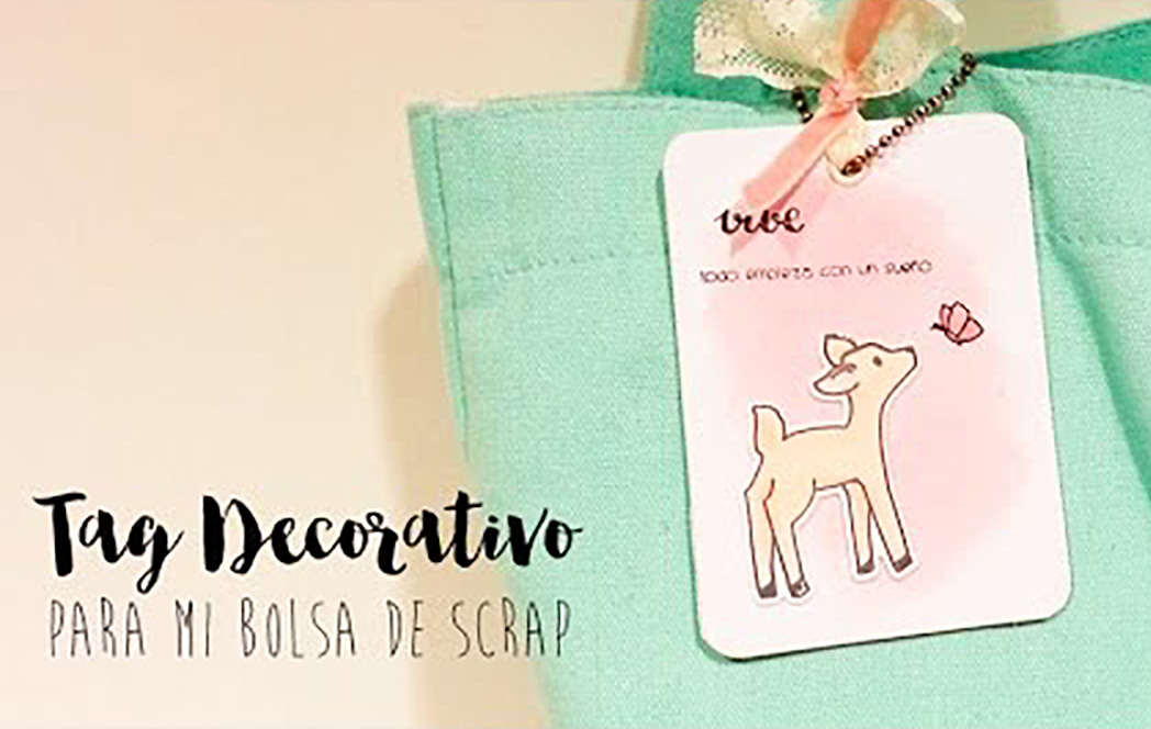 Tag decorativo para mi bolsa de scrap TUTORIAL